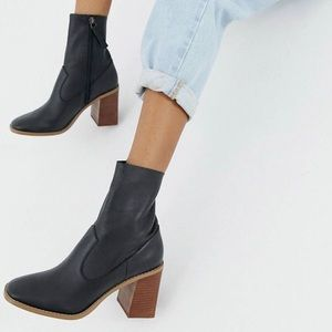 ASOS Evaline Leather Ankle Boots